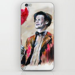 The Doctor and his red balloon  iPhone Skin
