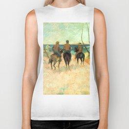 """Paul Gauguin """"Cavaliers Sur La Plage (II)"""" Biker Tank"""