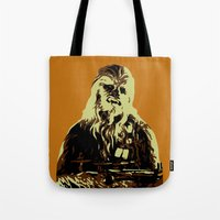 chewbacca Tote Bags featuring Chewbacca by iankingart