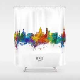 Jerez Spain Skyline Shower Curtain