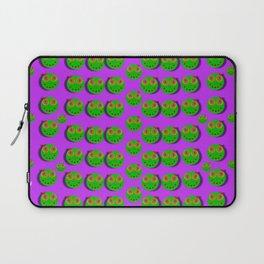 The happy eyes of freedom in polka dot cartoon pop art Laptop Sleeve