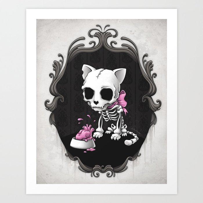 Bone Kitty Art Print
