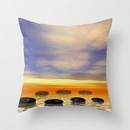 Zen Steine Throw Pillow