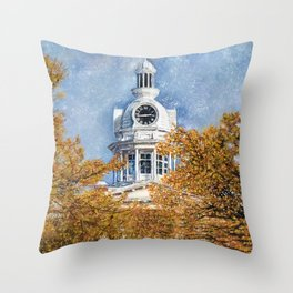 Courthouse in Autumn Throw Pillow