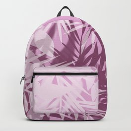 Pink tropical background Backpack