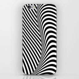 Black and White Pop Art Optical Illusion Lines iPhone Skin