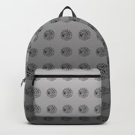 Gray London Pattern Backpack