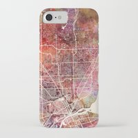 detroit iPhone & iPod Cases featuring Detroit by MapMapMaps.Watercolors