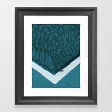 Blue Silent Framed Art Print
