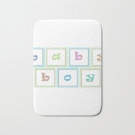 Gender Reveal - Baby Boy Spelling Blocks Bath Mat