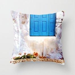 Cretan Door No2 Throw Pillow