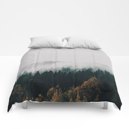 Forest Fog Comforters