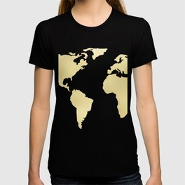 Gold Rush Map of the World T-shirt
