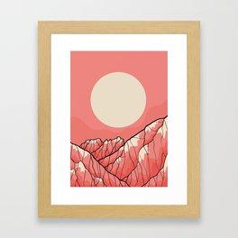 A warm morning sun Framed Art Print