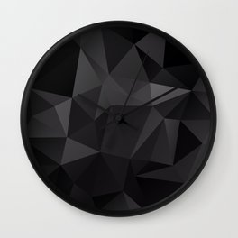 Abstract of triangles polygo in black colors Wall Clock