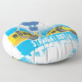 straight outta battlebus parody  Floor Pillow