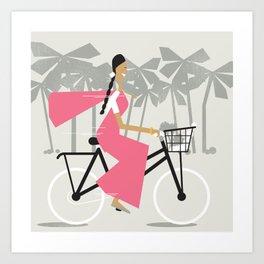 Saree Girl  Art Print