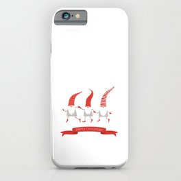 Dancing Nisse Merry Christmas Banner iPhone Case