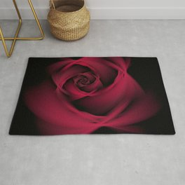 Abstract Rose Burgundy Passion Rug