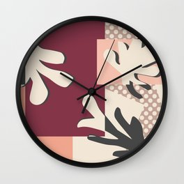 Finding Matisse pt.2 #society6 #abstract #art Wall Clock