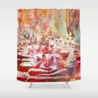 buddha Shower Curtains featuring Buddha   by LebensART