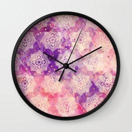 Hindu diwali pattern Wall Clock