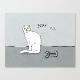 No Exercise Cat by Caleb Croy Canvas Print