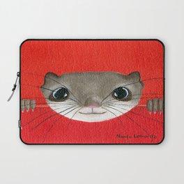 Cute baby Squirrel Bright Bold Colors Childrens decor Nursery Art Laptop Sleeve