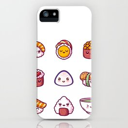 kawaii sushi iPhone Case