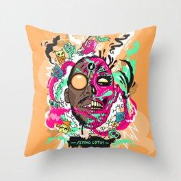 Flying Lotus Throw Pillow