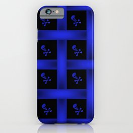 Blue Skulle Pattern iPhone Case