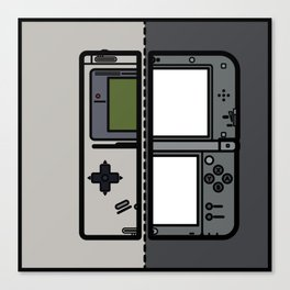 Old & New Nintendo Handheld Consoles Canvas Print