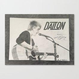Dalton Rapattoni Autographed Drawing Canvas Print
