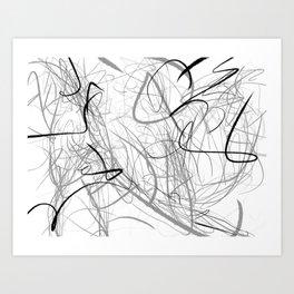Crazy lines Art Print