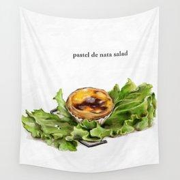 La Cuisine Fusion - Pastel de Nata Salad Wall Tapestry