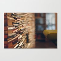 library Canvas Prints featuring library by Kristina Strasunske