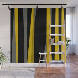 yellow gray and black Wall Mural
