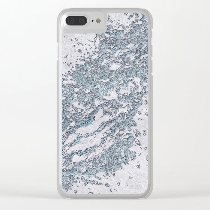 BE WATER MARBLE (abstract) Clear iPhone Case