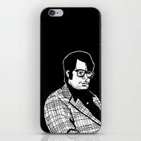 stephen king iPhone & iPod Skins featuring Stephen King by Corinne Halbert
