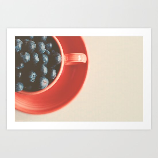 blueberries as big as your thumb ... Art Print