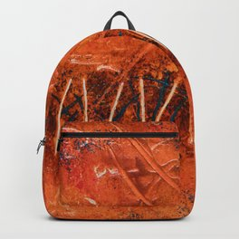 Lines (Orange Abstract) Backpack