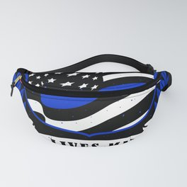 Honor-Respect Blue Lives MatterPolice Week Fanny Pack
