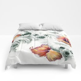 Chinese Roses Comforters