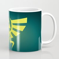 triforce Mugs featuring Zelda Triforce by WaXaVeJu
