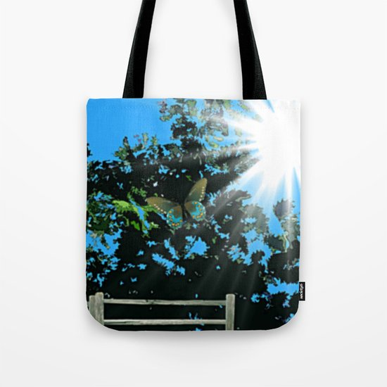 On the edge of the garden. Tote Bag