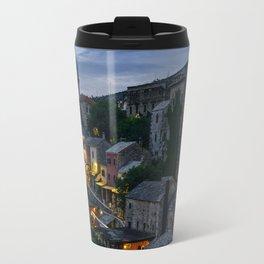 Night Mostar city Travel Mug