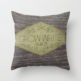 Grow Write Guild Seal Throw Pillow