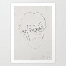 One Line Jemaine Clement 5Flight of the Conchords Art Print