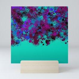 paint splatter on gradient pattern tgp Mini Art Print