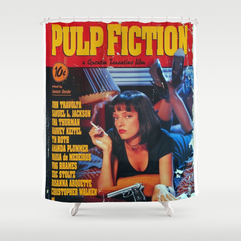 Pulp Fiction Mia Wallace Shower Curtain by Amy90 CTN7815712